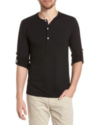 6524b76731ca0e Lyst - Ted Baker Slim Fit Mojave Thermal Pocket Henley in Gray for ...