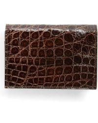 Boconi - Crocodile Card Case - - Lyst