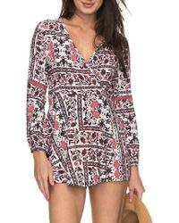 Roxy - Twilight Adventure Surplice Romper - Lyst