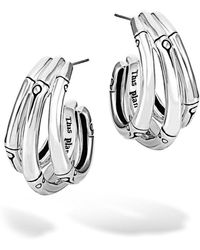 John Hardy - Bamboo Small Hoop Earrings - Lyst