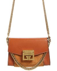 Givenchy - Givency Nano Gv3 Leather & Suede Crossbody Bag - Lyst
