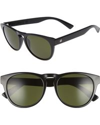 Electric - Nashville Xl 52mm Melanin Infused Sunglasses - Gloss Black/ Grey - Lyst