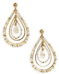Gas Bijoux - Aurore Beaded Teardrop Earrings - Lyst