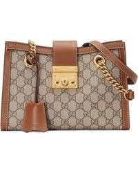 e8626987fb5e Gucci Mini Padlock Python Shoulder Bag in Green - Lyst