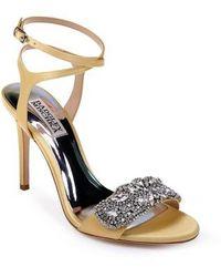 Hailey Satin Rhinestone Ankle Strap Dress Sandals xHMJFBtdB