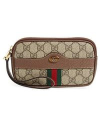 Gucci | Ophidia Gg Supreme Canvas Wristlet | Lyst