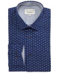Ted Baker - Endurance Trim Fit Dot Print Dress Shirt - Lyst