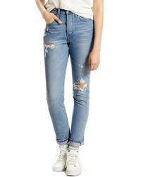 Levi's - Levi's 501 High Waist Skinny Jeans - Lyst