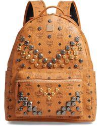 MCM - Medium Stark - Visetos Studded Logo Backpack - Lyst