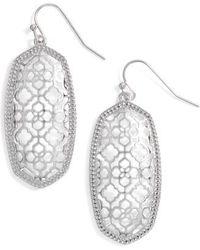 Kendra Scott | Elle Openwork Drop Earrings | Lyst