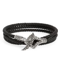 John Hardy - Legends Naga Triple Wrap Leather Bracelet - Lyst