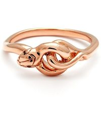 Anna Sheffield - 'small Serpent' Rose Gold Ring - Lyst