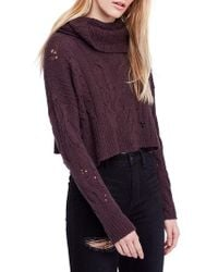 Free People - Shades Of Dawn Crop Sweater - Lyst