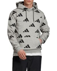 Athletics Pack Allover Print Hoodie, Gray
