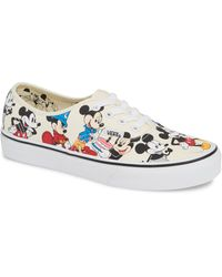 Vans - X Disney Ua Authentic Mickey Mouse Sneaker - Lyst