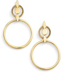 Badgley Mischka - Geometric Drop Earrings - Lyst