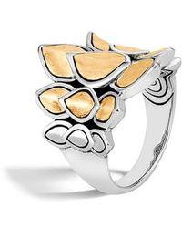 John Hardy - Legends Naga Gold & Silver Saddle Ring - Lyst
