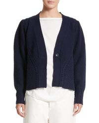 Sofie D'Hoore - Mixed Stitch Wool Button Cardigan - Lyst