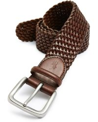 Lyst - Polo Ralph Lauren Pony Plaque Leather Belt in Brown for Men 243156bd863