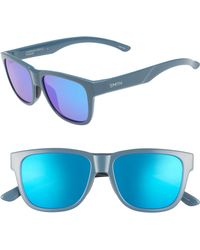 6884e73e60f2 Smith - Lowdown Slim 2 53mm Chromapop(tm) Polarized Square Sunglasses -  Thunder -