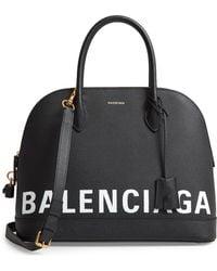 Balenciaga - Ville Logo Leather Satchel - - Lyst