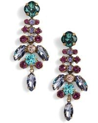 Sorrelli - Perfect Harmony Crystal Drop Earrings - Lyst