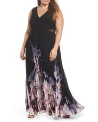Xscape - Pleated Chiffon Gown - Lyst