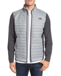 The North Face Thermoball Hybrid Outdoor Jacket In Grey For