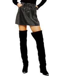 TOPSHOP - Crystal Pin Stud Denim Skirt - Lyst