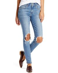 Levi's - 721 Ripped High Waist Skinny Jeans - Lyst