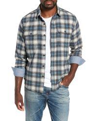 Jeremiah - Knoxville Regular Fit Herringbone Plaid Flannel Shirt - Lyst