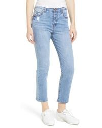 Band Of Gypsies - Parker Crop Skinny Jeans - Lyst