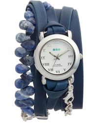 La Mer Collections - Stone & Leather Wrap Strap Watch - Lyst