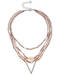 Nakamol - Crystal & Freshwater Pearl Multistrand Pendant Necklace - Lyst