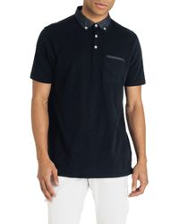 Good Man Brand - Slub Jersey Cotton Polo Shirt - Lyst