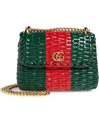 d0ff4b4f2406 Gucci - Small Linea Cestino Glazed Wicker Shoulder Bag - - Lyst