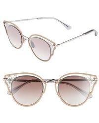 4ee4e9c6a2fd Lyst - Jimmy Choo Cindy 57mm Cat s-eye Sunglasses in Gray