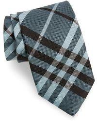 Burberry - Check Silk Tie - Lyst