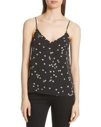 Equipment | Layla Star Print Silk Camisole | Lyst