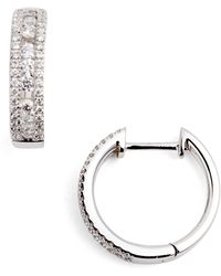 Bony Levy - Amara Small Diamond Hoop Earrings (nordstrom Exclusive) - Lyst