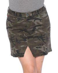 Slink Jeans - Camo Print Skirt - Lyst