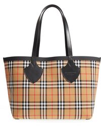 Burberry - Giant Vintage Reversible Tote - Lyst