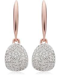 Monica Vinader - Nura Small Diamond Pebble Drop Earrings - Lyst