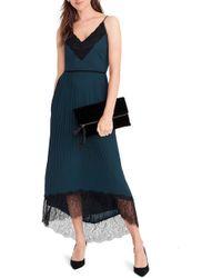 J.Crew - Collection Spaghetti Strap Pleated Midi Dress - Lyst