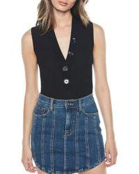 Bardot - Button Bodysuit - Lyst