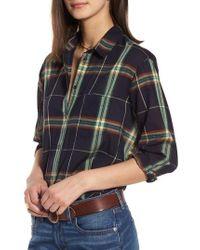 Madewell - Oversize Ex-boyfriend Plaid Shirt - Lyst