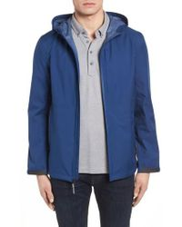 Cole Haan - Seam Sealed Packable Jacket, Blue - Lyst
