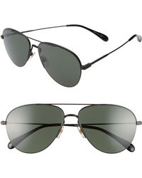 3ef2273a922b8 Lyst - Givenchy Round Aviator Shield Sunglasses in Black