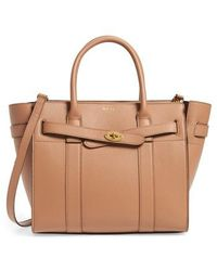 Mulberry - Small Zip Bayswater Classic Leather Tote - Lyst