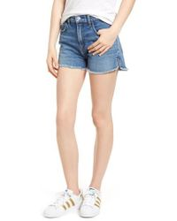 7 For All Mankind | 7 For All Mankind Cutoff Step Hem Denim Shorts | Lyst